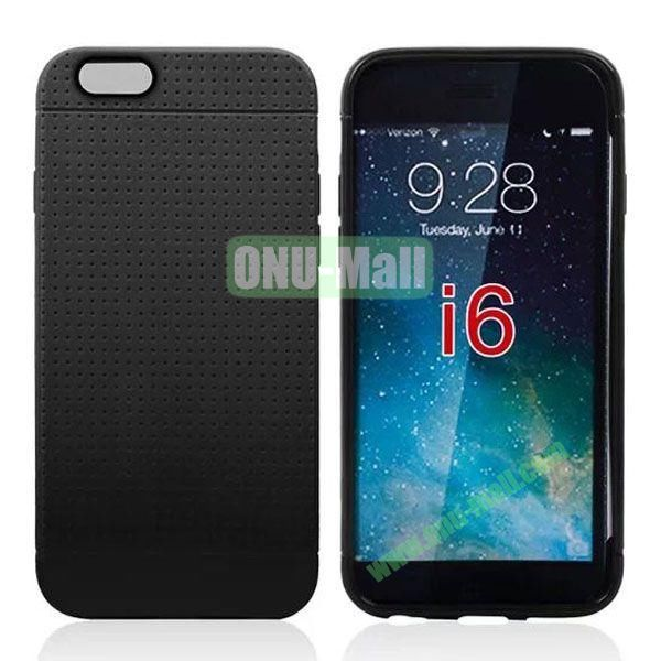 Hot Sale Honeycomb Holes Design TPU Case for iPhone 6 4.7 inch (Black)