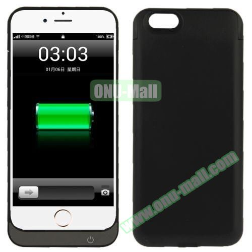 5000 mAh Rechargeable External Backup Battery Case for iPhone 6 (Black)