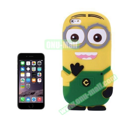 3D Despicable Me II Minions Style Cute Silicone Case for iPhone 6 4.7 inch (Green)