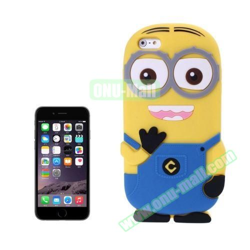3D Despicable Me II Minions Style Cute Silicone Case for iPhone 6 4.7 inch (Blue)