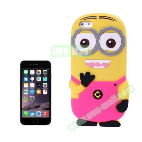 3D Despicable Me II Minions Style Cute Silicone Case for iPhone 6 4.7 inch (Rose)