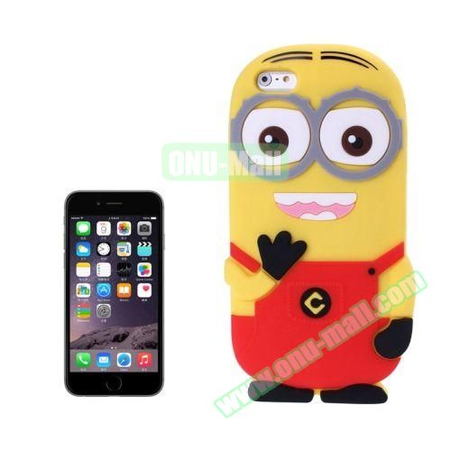 3D Despicable Me II Minions Style Cute Silicone Case for iPhone 6 4.7 inch (Red)