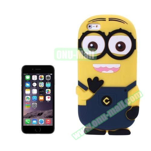 3D Despicable Me II Minions Style Cute Silicone Case for iPhone 6 4.7 inch (Dark Blue)