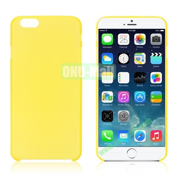 0.3mm Ultra-thin PC Plastic Hard Case Cover for iPhone 6 4.7 inch (Yellow)