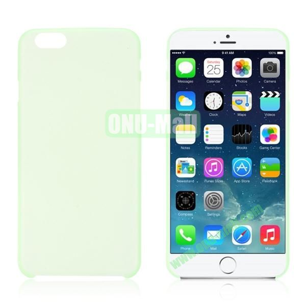0.3mm Ultra-thin PC Plastic Hard Case Cover for iPhone 6 4.7 inch (Light Green)