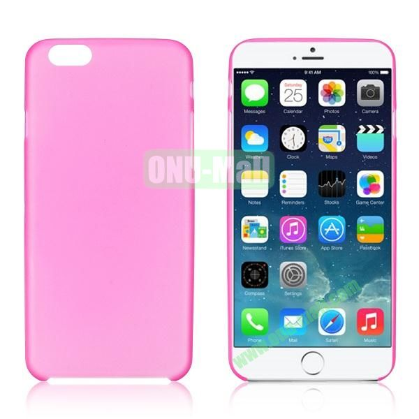 0.3mm Ultra-thin PC Plastic Hard Case Cover for iPhone 6 4.7 inch (Rose)