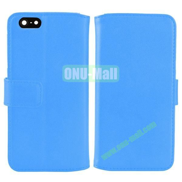 Melon Pattern Magnetic Flip Leather Case For iPhone 6 Plus 5.5 inch With Card Slots (Blue)
