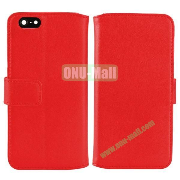 Melon Pattern Magnetic Flip Leather Case For iPhone 6 Plus 5.5 inch With Card Slots (Red)