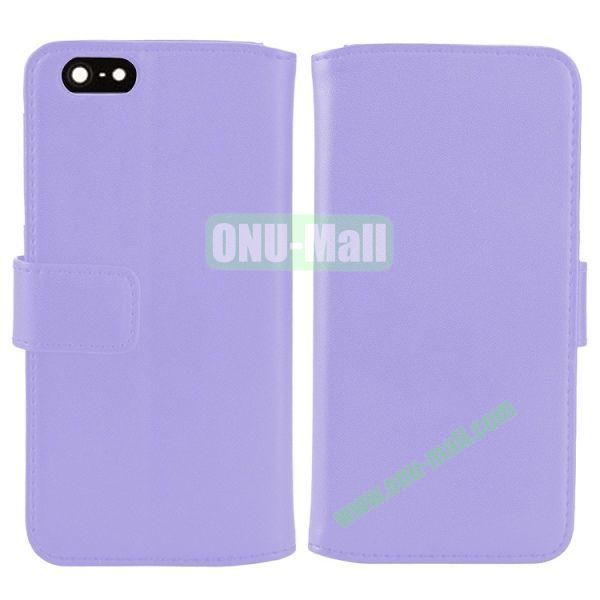 Melon Pattern Magnetic Flip Leather Case For iPhone 6 Plus 5.5 inch With Card Slots (Light Purple)