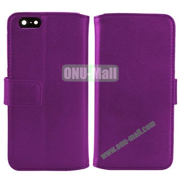 Melon Pattern Magnetic Flip Leather Case For iPhone 6 Plus 5.5 inch With Card Slots (Purple)