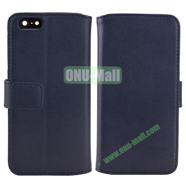 Melon Pattern Magnetic Flip Leather Case For iPhone 6 Plus 5.5 inch With Card Slots (Dark Blue)