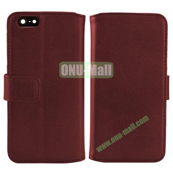 Melon Pattern Magnetic Flip Leather Case For iPhone 6 Plus 5.5 inch With Card Slots (Brown)