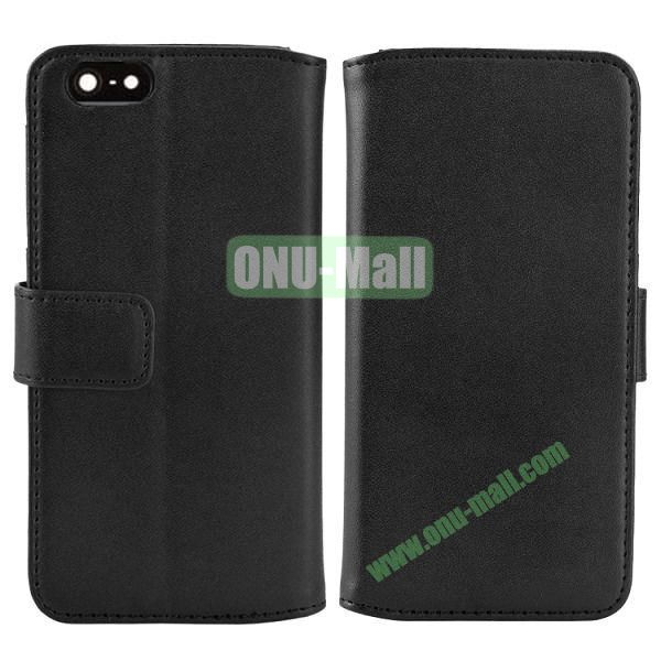 Melon Pattern Magnetic Flip Leather Case For iPhone 6 Plus 5.5 inch With Card Slots (Black)