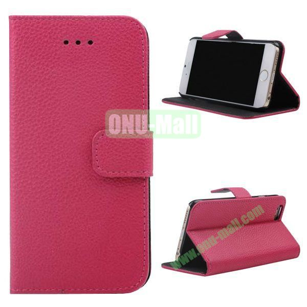 Litchi Texture Wallet Style Leather Case for iPhone 6 4.7 inch (Rose)