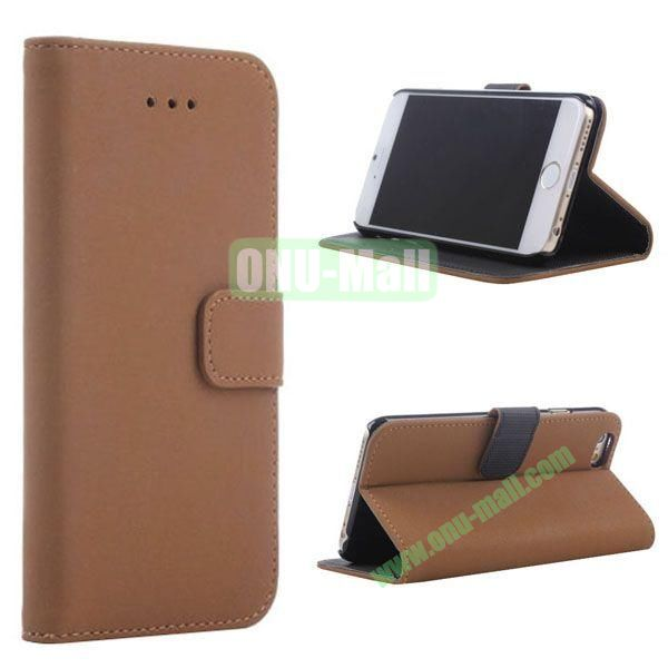 Retro Style Wallet Design Leather Case for iPhone 6 Plus 5.5 inch (Coffee)