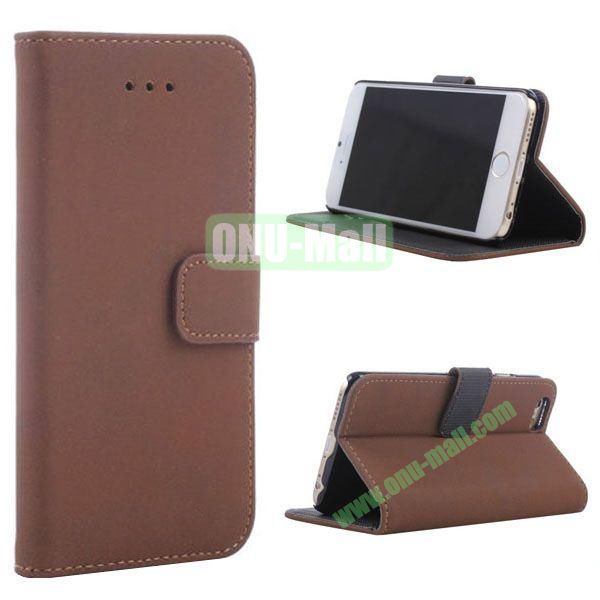 Retro Style Wallet Design Leather Case for iPhone 6 Plus 5.5 inch (Brown)