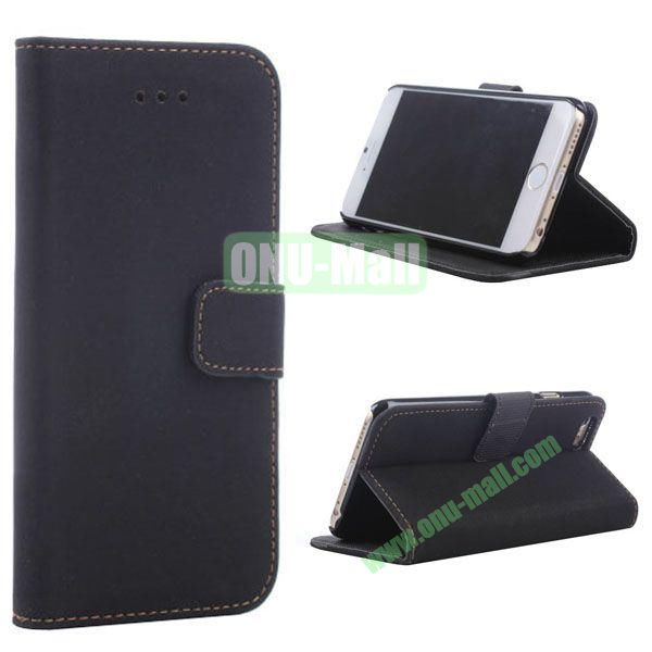Retro Style Wallet Design Leather Case for iPhone 6 Plus 5.5 inch (Black)