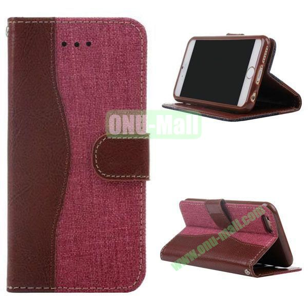 Cowboy Texture Flip TPU+PU Leather Case for iPhone 6 Plus 5.5 inch (Red)