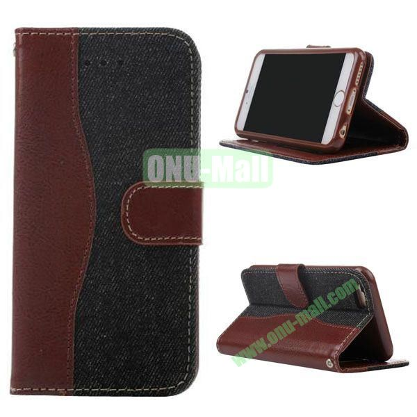 Cowboy Texture Flip TPU+PU Leather Case for iPhone 6 4.7 inch (Black)