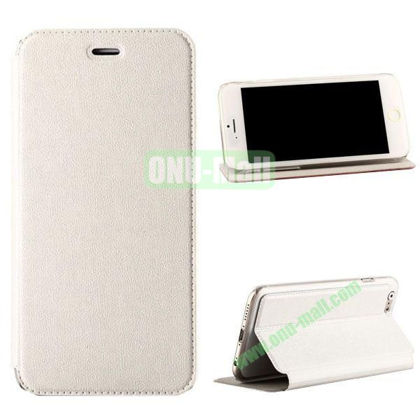 Oracle Texture Flip PC+PU Leather Case for iPhone 6 Plus 5.5 inch (White)