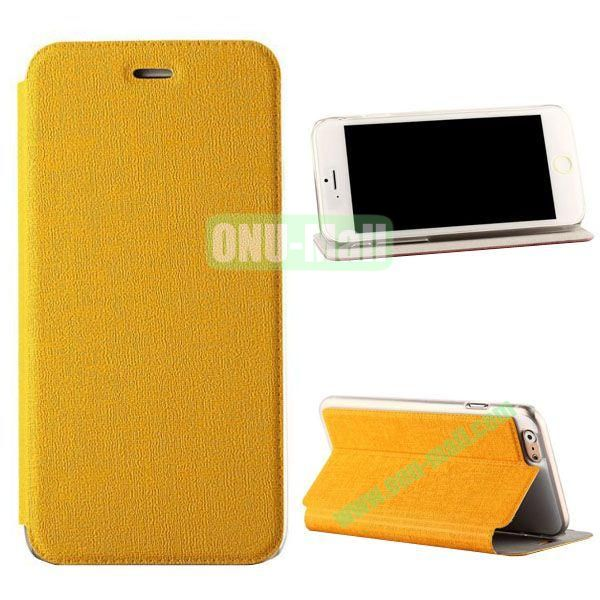 Oracle Texture Flip PC+PU Leather Case for iPhone 6 Plus 5.5 inch (Yellow)