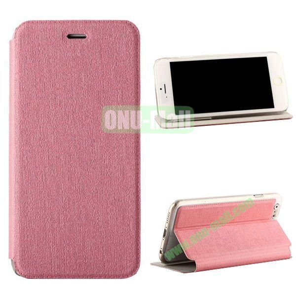 Oracle Texture Flip PC+PU Leather Case for iPhone 6 4.7 inch (Pink)