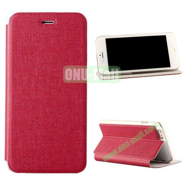 Oracle Texture Flip PC+PU Leather Case for iPhone 6 4.7 inch (Red)
