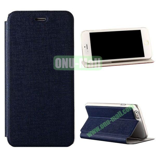Oracle Texture Flip PC+PU Leather Case for iPhone 6 Plus 5.5 inch (Dark Blue)