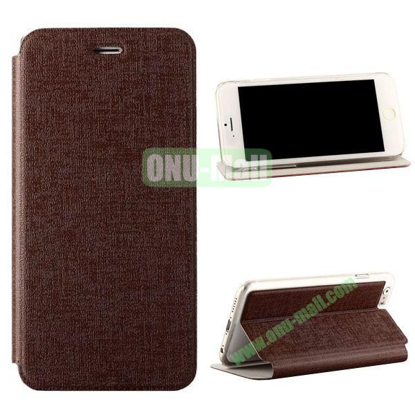 Oracle Texture Flip PC+PU Leather Case for iPhone 6 Plus 5.5 inch (Brown)