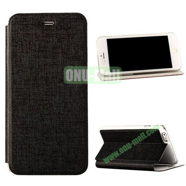 Oracle Texture Flip PC+PU Leather Case for iPhone 6 Plus 5.5 inch (Black)