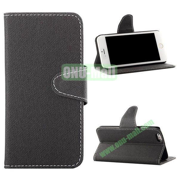 Cowboy Cloth Texture Magnetic Flip Leather Case for iPhone 6 Plus 5.5 inch (Grey)