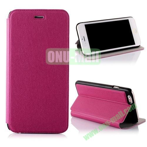 Cowboy Cloth Texture Flip Leather Case for iPhone 6 Plus 5.5 inch (Pink)