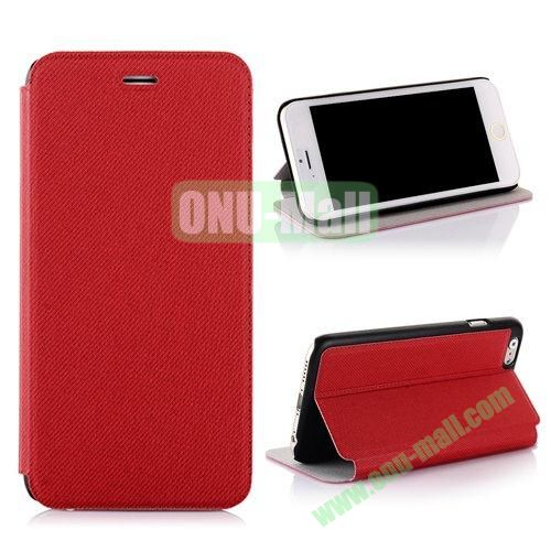 Cowboy Cloth Texture Flip Leather Case for iPhone 6 Plus 5.5 inch (Red)