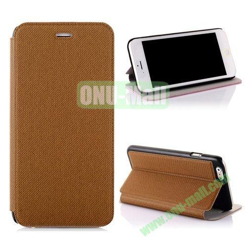 Cowboy Cloth Texture Flip Leather Case for iPhone 6 Plus 5.5 inch (Beige)