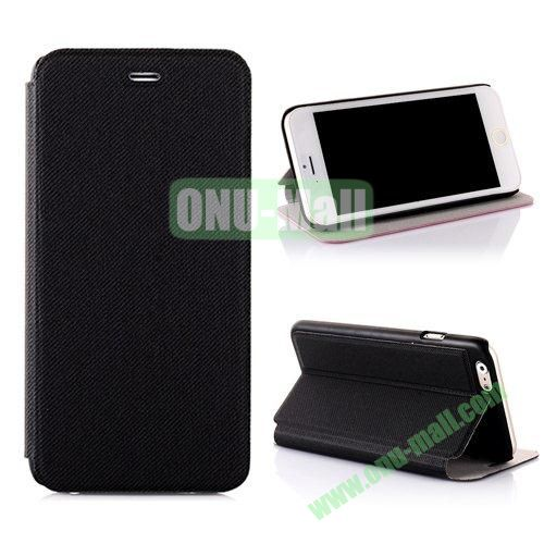 Cowboy Cloth Texture Flip Leather Case for iPhone 6 Plus 5.5 inch (Black)
