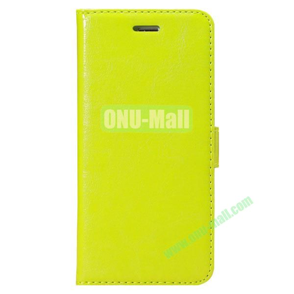 Crazy Horse Texture Folio Style Flip Leather Case for iPhone 6 with Card Slots 4.7 inch (Green)