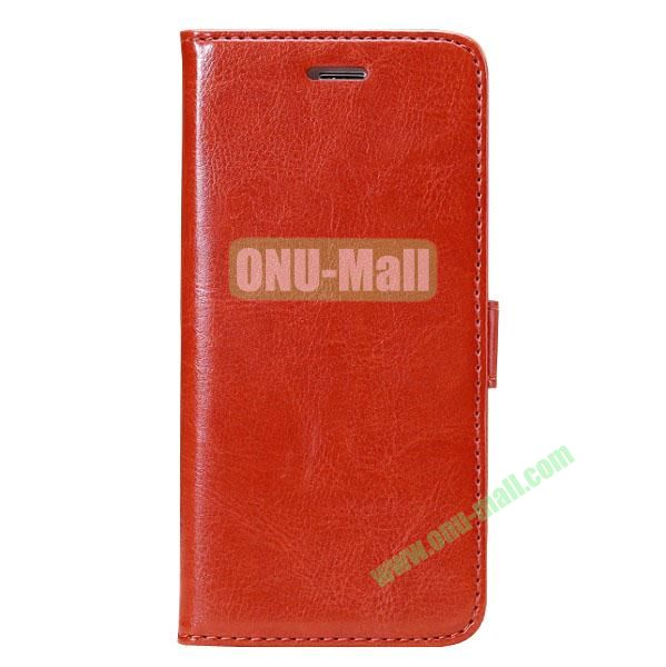 Crazy Horse Texture Folio Style Flip Leather Case for iPhone 6 Plus 5.5 inch with Card Slots (Wine Red)