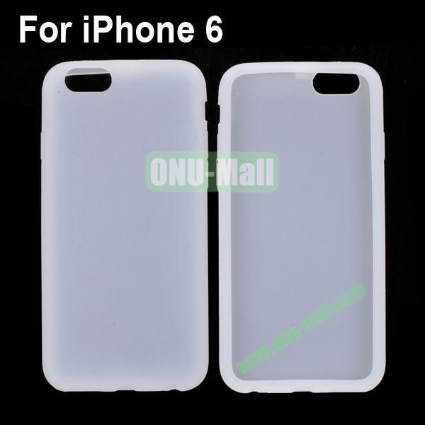 New Arrival Pure Color Gel Silicone Case for iPhone 6 Plus 5.5 inch (White)
