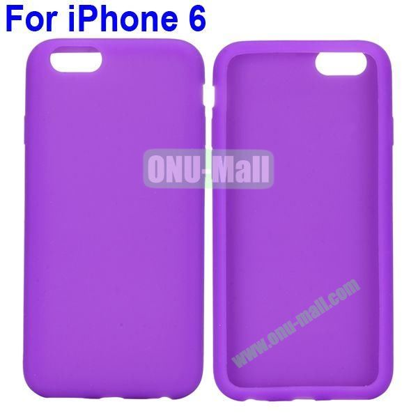 New Arrival Pure Color Gel Silicone Case for iPhone 6 Plus 5.5 inch (Purple)