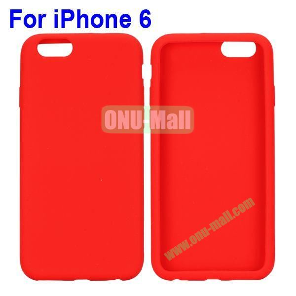 New Arrival Pure Color Gel Silicone Case for iPhone 6 Plus 5.5 inch (Red)