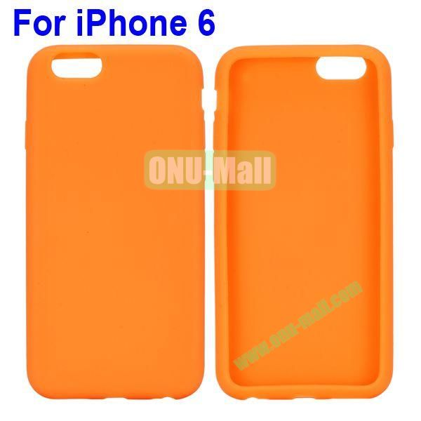 New Arrival Pure Color Gel Silicone Case for iPhone 6 Plus 5.5 inch (Orange)