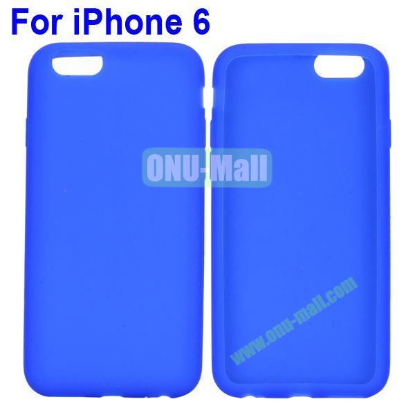 New Arrival Pure Color Gel Silicone Case for iPhone 6 Plus 5.5 inch (Blue)