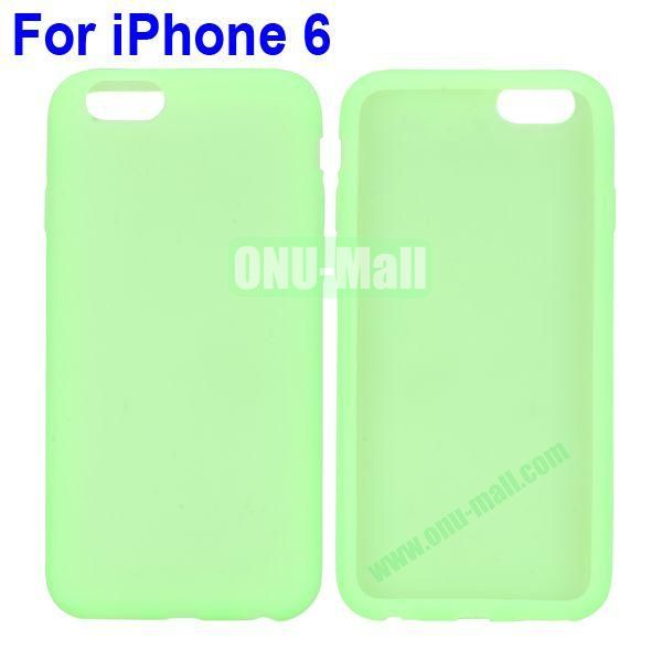 New Arrival Pure Color Gel Silicone Case for iPhone 6 Plus 5.5 inch (Green)