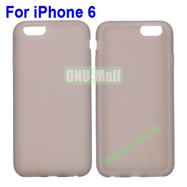 New Arrival Pure Color Gel Silicone Case for iPhone 6 Plus 5.5 inch (Grey)