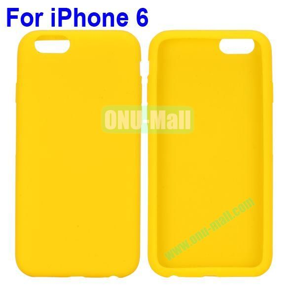 New Arrival Pure Color Gel Silicone Case for iPhone 6 Plus 5.5 inch (Yellow)