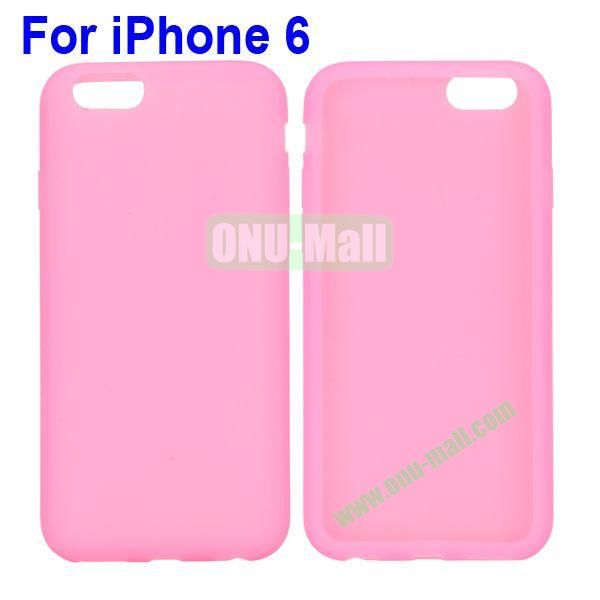 New Arrival Pure Color Gel Silicone Case for iPhone 6 Plus 5.5 inch (Pink)