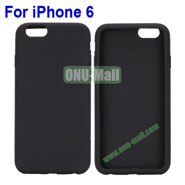 New Arrival Pure Color Gel Silicone Case for iPhone 6 Plus 5.5 inch (Black)