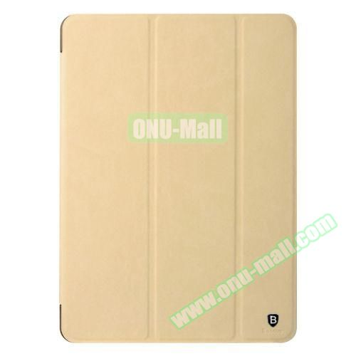 Baseus 3-folding Grace Simplism Series Leather Smart Cover for iPad Air 2 (Gold)