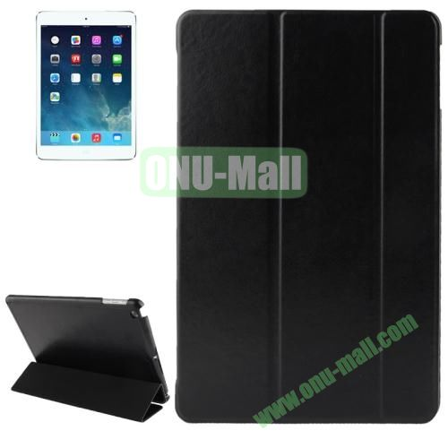 3-folding Crazy Horse Texture Leather Cover for iPad Air with Holder & Sleep  Wake-up Function (Black)