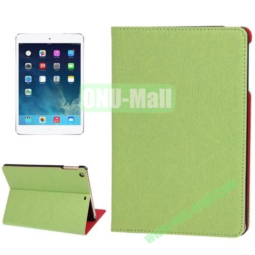 Lines Texture Leather Cover Case for iPad Air with 3 Gears & Holder & Sleep  Wake-up Function (Light Green)